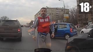 Неадекватные быдло водители #6