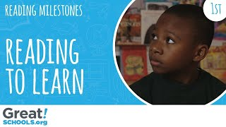 Does your 1st grader read to learn like this? - Milestones from GreatSchools