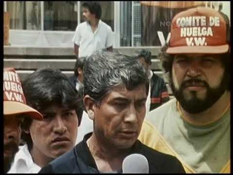 Мексика. «Фольксваген». Забастовка рабочих на автозаводе 7.08.1987