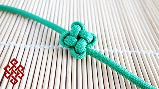 How to Tie a Chinese Clover / Four Leaf Clover Knot Tutorial