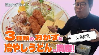 【湖国のグルメ】丸喜食堂【ミックス定食と冷やしうどん】