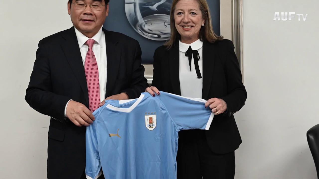 AUF recibió delegación del gobierno de Tangshan, China
