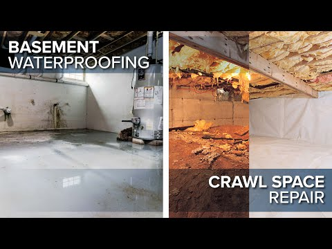 Basement and Crawl Space Waterproofing in NJ