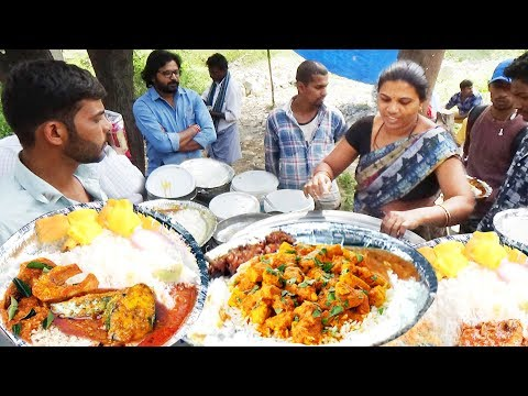 It's A Office Lunch Time In Hyderabad | Chicken Rice @ 60 Rs / Veg Meals @ 50 Rs/ | IndianStreetFood