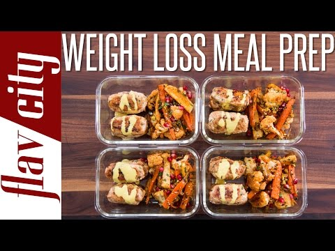 Video Healthy Meal Prepping For Weight Loss  - Tasty Recipes For Losing Weight
