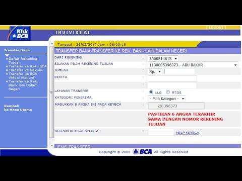 Cara Transfer via Klikbca ke Bank Lain