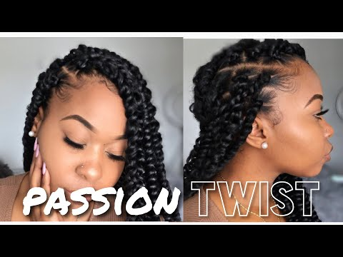 How To: Easy PASSION Twist Using Rubber Band Method