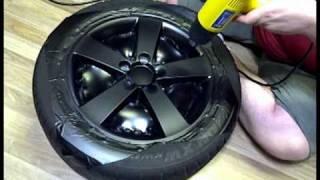 DIY: Wrapping Rims in Matte Black Vinyl
