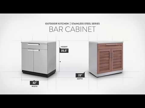 NewAge Stainless Steel Bar Cabinet