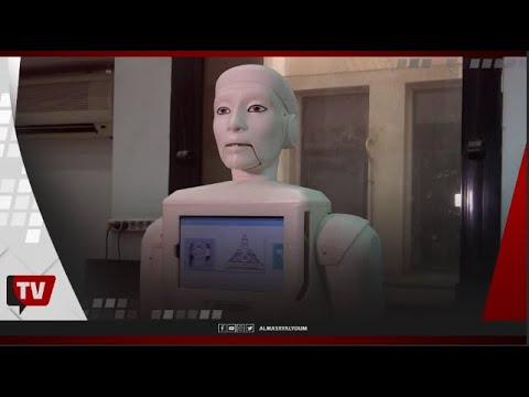 شاهد أول ممرضة «روبوت» بجامعة عين شمس.. تتحدث العربية بطلاقة