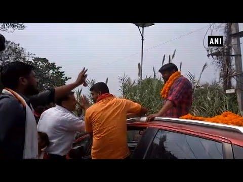कन्हैया कुमार बिहार रोड शो के दौरान विरोध का सामना कर रहा