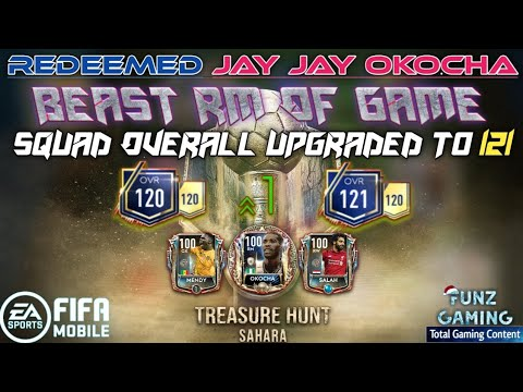 FIFA MOBILE 19 | Redeemed Prime Icon Jay Jay Okocha | Beast RM Of Game | 121 OVR Squad - Funz Gaming