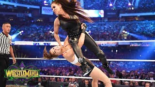 Ronda Rousey shows no mercy against Stephanie McMahon in her WWE in-ring debut: WrestleMania 34