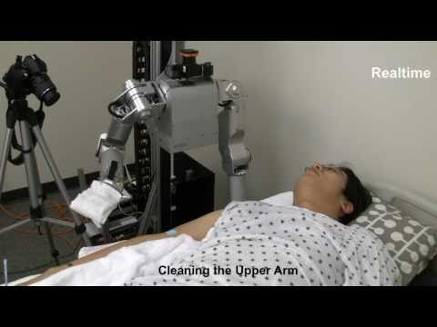 Video of Cody, the Robot, Performing Bathing Tasks on Live Human!