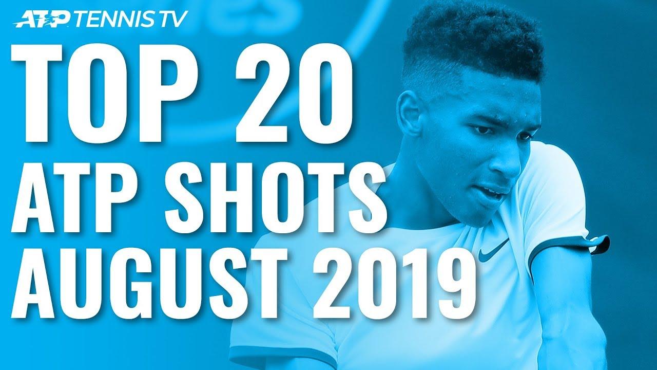 Топ-20 лучших ударов августа в мужском теннисном Туре (ВИДЕО)