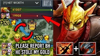 This is How You Counter Alche Ez! 7.20 Mid Bounty Hunter +120 Gold Steal Most Cancer Hero Dota 2
