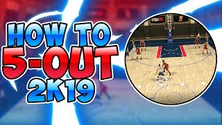 HOW TO 5-OUT IN NBA 2K19! GO 12-0 IN MYTEAM UNLIMITED WITH EASE! 5-OUT