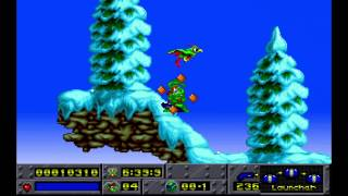 preview picture of video 'Jazz Jackrabbit - Episode X - Holiday Hare '94: 01. Holidaius 1 (1994) [MS-DOS]'