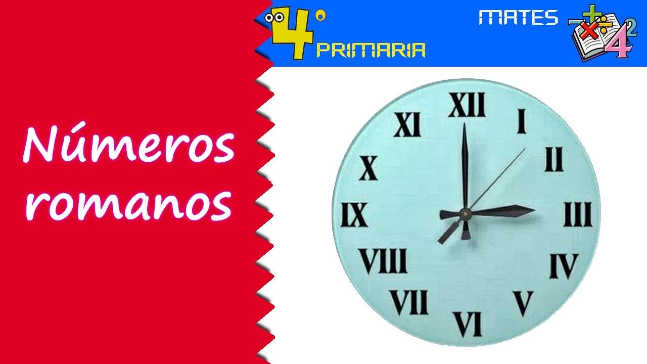 Matemáticas. 4º Primaria. Tema 12. La numeración romana