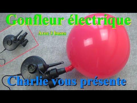 Gonfleur électrique avec 3 buses idéal pour gonfler les Matelas, coussins, piscine gonflable
