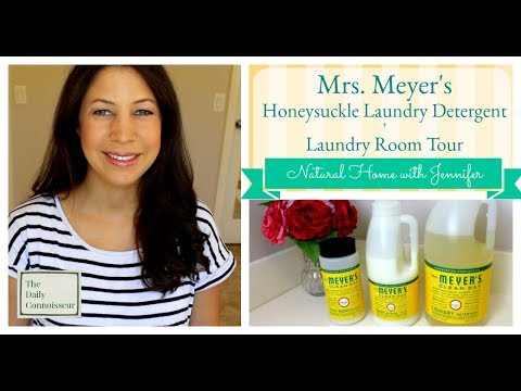 Mrs. Meyer's Laundry Detergent in Honeysuckle + Laundry Room Tour | Natural Home with Jennifer