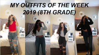 My Outfits Of The Week For 8th Grade. (basic)