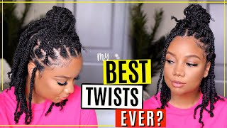 SHOULDER LENGTH TWIST? 😍 YESSS! 4B/4C HAIR APPROVED | Outre X-Pression Twisted Up Springy Afro Twist