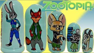 Disney Zootopia Nesting Dolls, Stacking Cups with Judy Hopps, Nick Wilde, Toy Surprises / TUYC