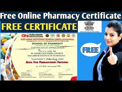 Free Online Pharmacy Certificate 2020   Free Online Free Online ...