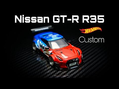 Nissan GT-R R35 liberty walk hot wheels custom
