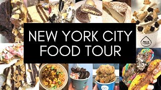 NYC FOOD TOUR | Best Food New York City - Video Youtube