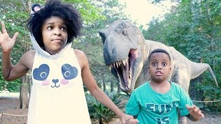 GIANT DINOSAUR vs Shiloh and Shasha - Onyx Kids