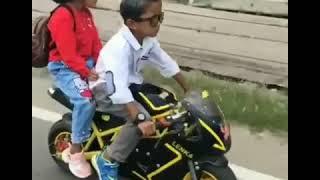 Lucu Anak Kecil Bawa Motor Sama Pacar Keren Banget