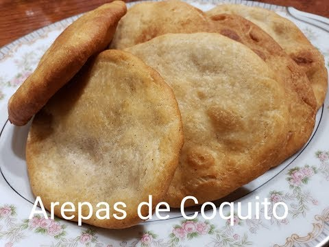 Como hacer Arepas (Tortas , Domplines )de Coquito