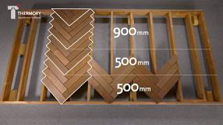 Herringbone By Thermory  Modular Ash Decking Installation Video