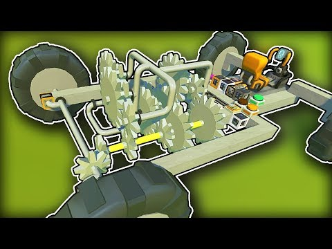 I Built a Multi Speed Transmission Using Gears! (Scrap Mechanic Gameplay)
