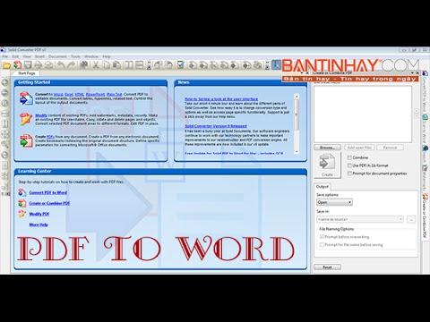 Convert pdf sang word không bị lỗi font