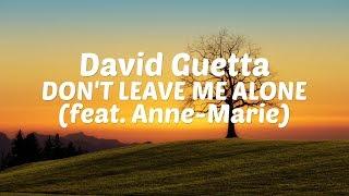 David Guetta - Don't Leave Me Alone (feat. Anne-Marie) [Lyric Video]