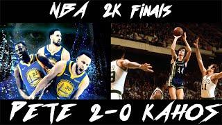 NBA 2K18 IN HD Warriors Vs.  70 - 71 Hawks FINALS GAME 3 PETE VS. KAHOS DUBS LEAD 2 - 0