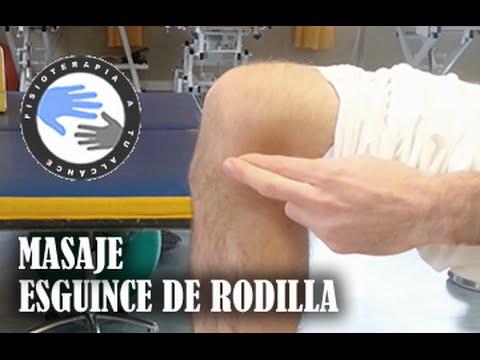 Esguince de rodilla masaje, como autotratar tu lesion