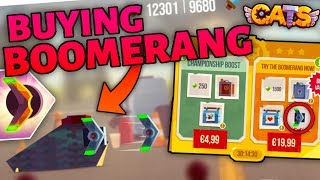 BUYING THE BOOMERANG IN C.A.T.S - Getting New Weapons in Crash Arena Turbo Stars