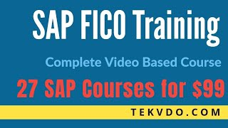 SAP FICO Training - Complete SAP FICO Video Based Course