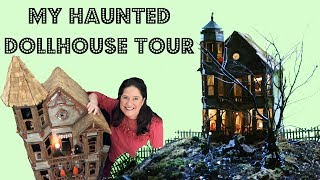 My Haunted Dollhouse Tour With Halloween Miniatures