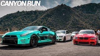 INSANE CANYON RUN CRUISE!! (BMW M3's + NISSAN GTR)