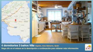 preview picture of video '4 dormitorios 3 baños Villa se Vende en Algaida, Islas Baleares, Spain'