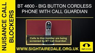 The BT 4600 Big Button Cordless Phone with Advanced Call Blocker