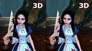 3D VR Alice Madness Returns 3D SBS VR box google cardboard video