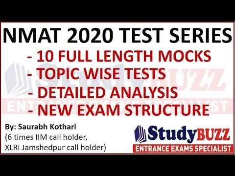 NMAT 2020 test series: 10 full mocks, topic wise practice, detailed ...