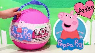 LOL Big Surprise Peppa Pig Con Sorpresas | Jugando Muñecas Y Juguetes Con Andre Para Niñas Y Niños