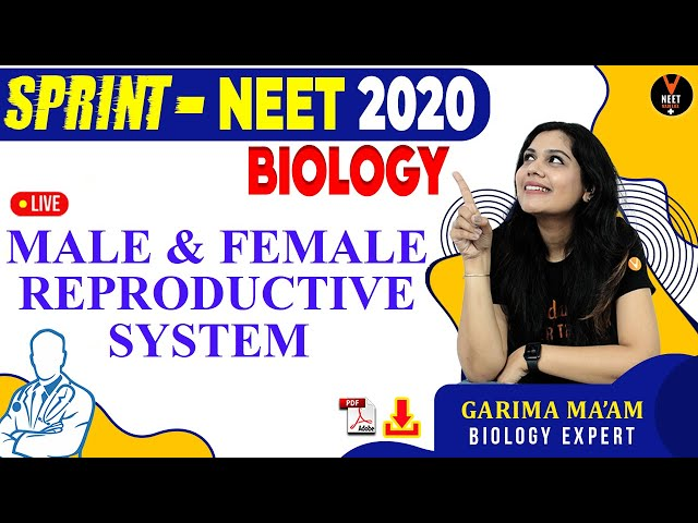 Male & Female Reproductive System | NEET Biology MCQs Series | NEET 2020 | NCERT | Garima Goel